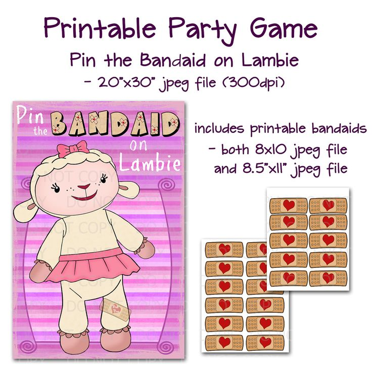 95 best doc mcstuffins images on pinterest birthdays birthday printable diy pin the bandaid on the plush lamb doc theme party game poster 20 x 30 solutioingenieria Gallery
