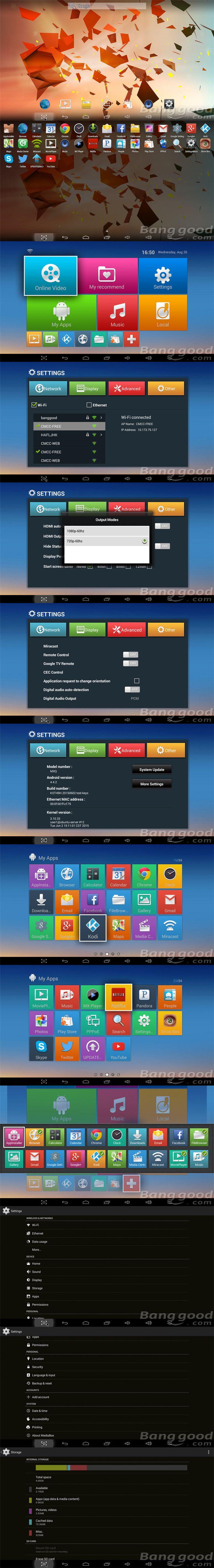 MXQ S805 1GB/8GB KODI 14.2 Quad Core Android 4.4 1080P HD H.265 HEVC TV Box Android Mini PC