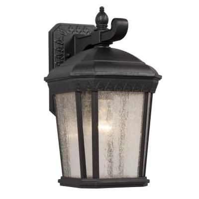 Filament Design Negron 1 Light Outdoor Black Wall Lantern