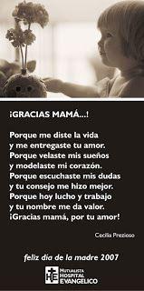 tarjeta poema y poesia para el dia de la madre