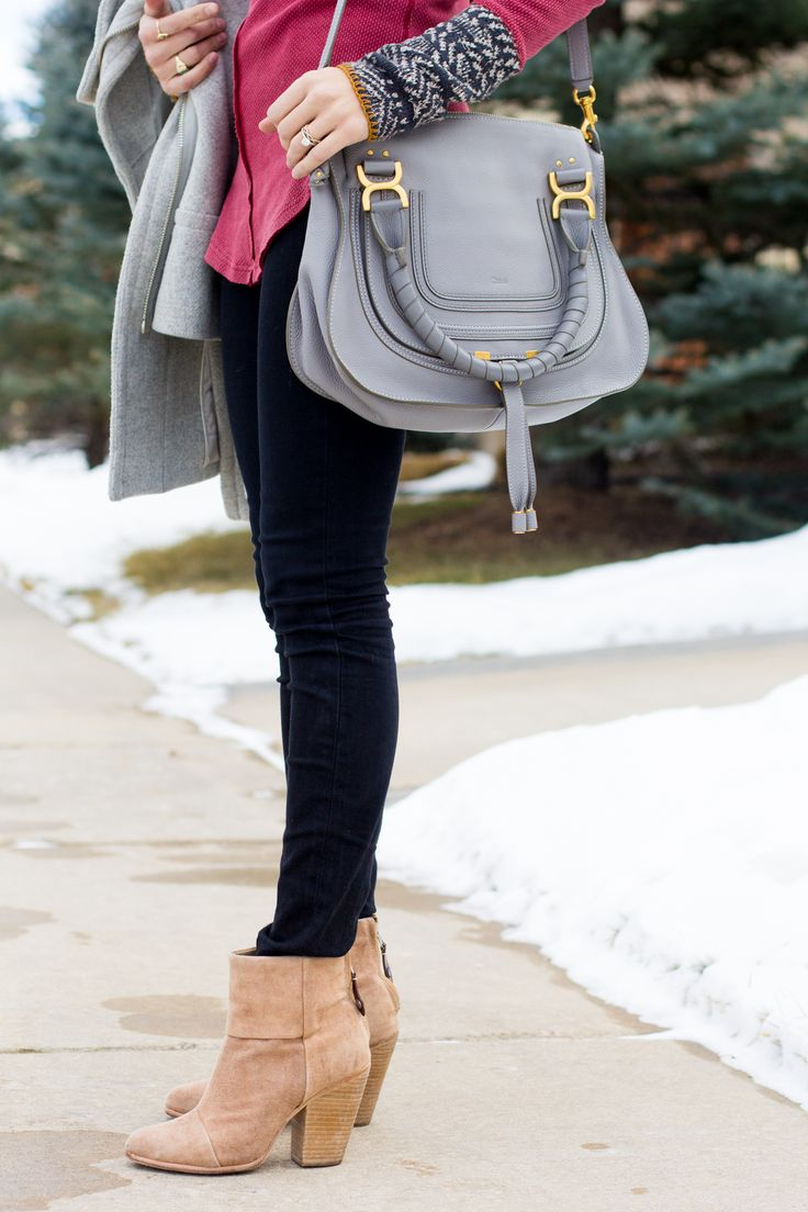 chloe marcie bag, newbury boots, alpine cuff tee | thefoxandshe.com
