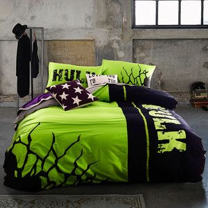 Hulk Glow Bedcover Night-Luminous Duvet Cover Bedding Sets for Double Bed