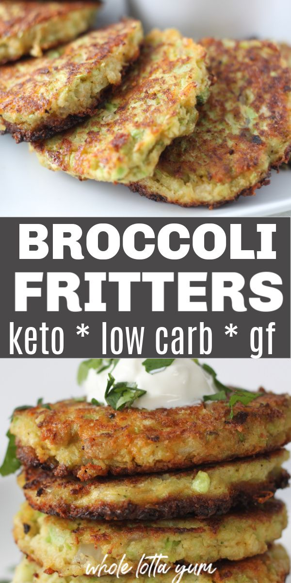 Gâteaux frits au brocoli (beignets de brocoli Keto sans gluten)