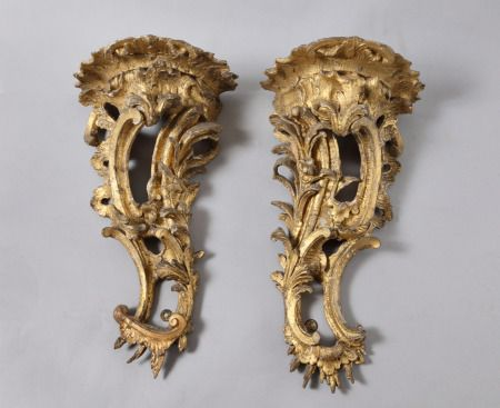 Pair of carved giltwood brackets, mid 18th century, accepted by HM Government in lieu of inheritance tax and allocated to the National Trust for display at Lyme Park. ©National Trust Collections