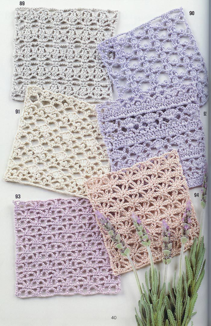 Free Crochet Patterns : SOLO PUNTOS: Crochet puntos calados Ganchillo ...