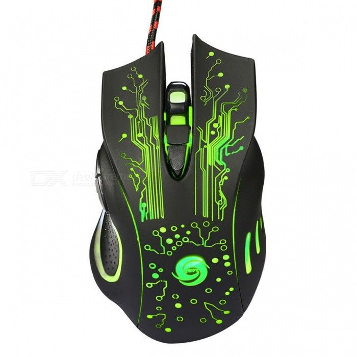 3200DPI LED Optical 6D USB Wired Gaming Mouse - Black - Free Shipping - DealExtreme