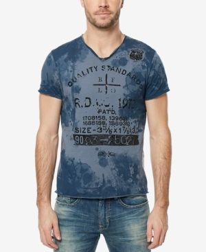 Buffalo David Bitton Men's Tie-Dyed Graphic-Print T-Shirt - Gray XXL