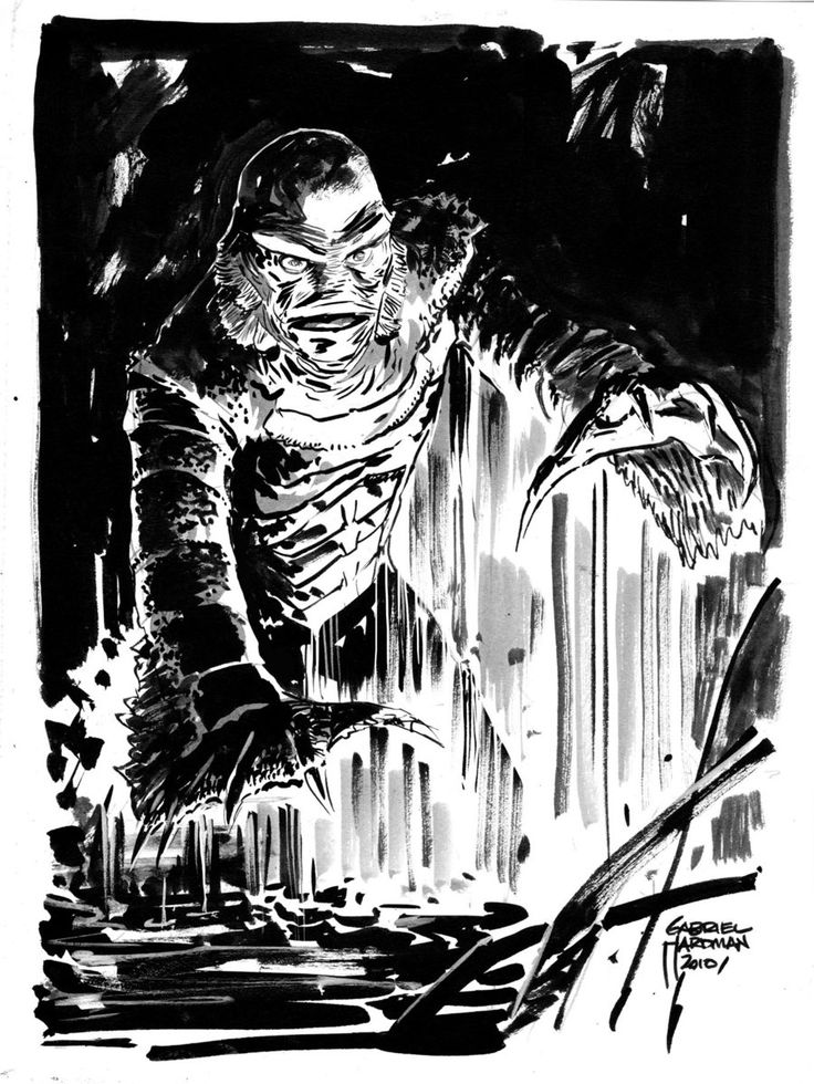 Monster from the black lagoon