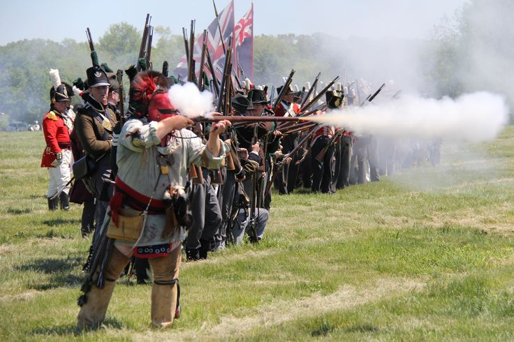 Fort George event - 1812 Re-enactment in Niagara-on-the-Lake, Ontario, Canada