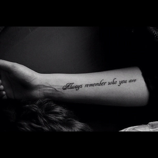 looking for a rib tattooo thats a true to self meaning and i feel like i like this one!