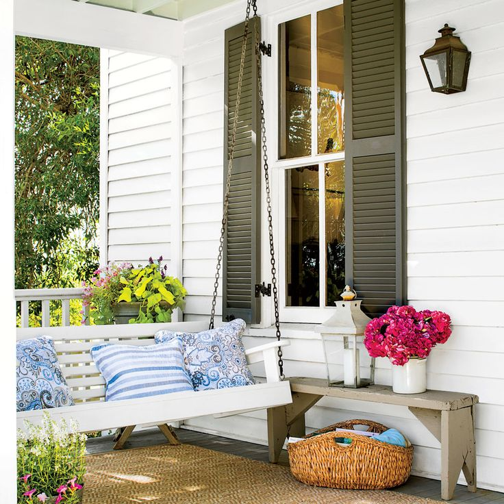 Our Favorite Porch Swings: Classic White Porch Swing