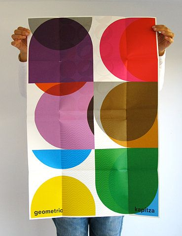 -poster by Kapitza, from their book 'geometric: graphic art and pattern fonts by Kapitza'
