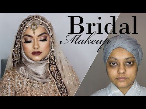 Bridal Makeover for Hyper Pigmented Skin | Amna Hussain - YouTube