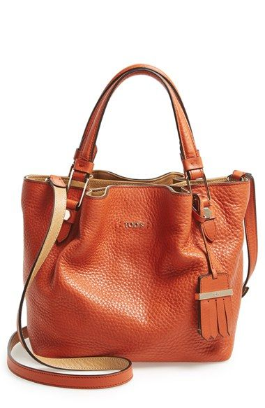 Tod's 'Mini Flower' Leather Crossbody Shopper available at #Nordstrom
