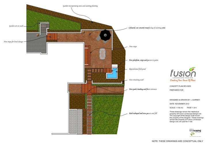 Entertainment area. Designed by Fusion Landscape Design