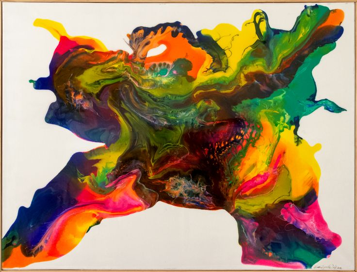 *SOLD* Title: Sumo - Abstract art acrylic on canvas with high gloss resin finish