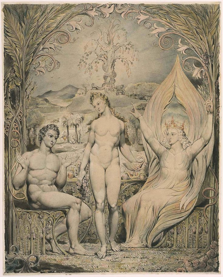 https://flic.kr/p/xdPtkd | The Archangel Raphael with Adam and Eve (Illustration to Milton's 'Paradise Lost') | 1808. Pen and watercolor on paper. 49,8 x 39,8 cm. Museum of Fine Arts, Boston. 90.97.