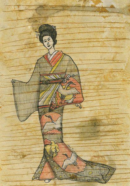 """""""Kimono"""" Art Print, $67  Also available as card, poster, canvas."""