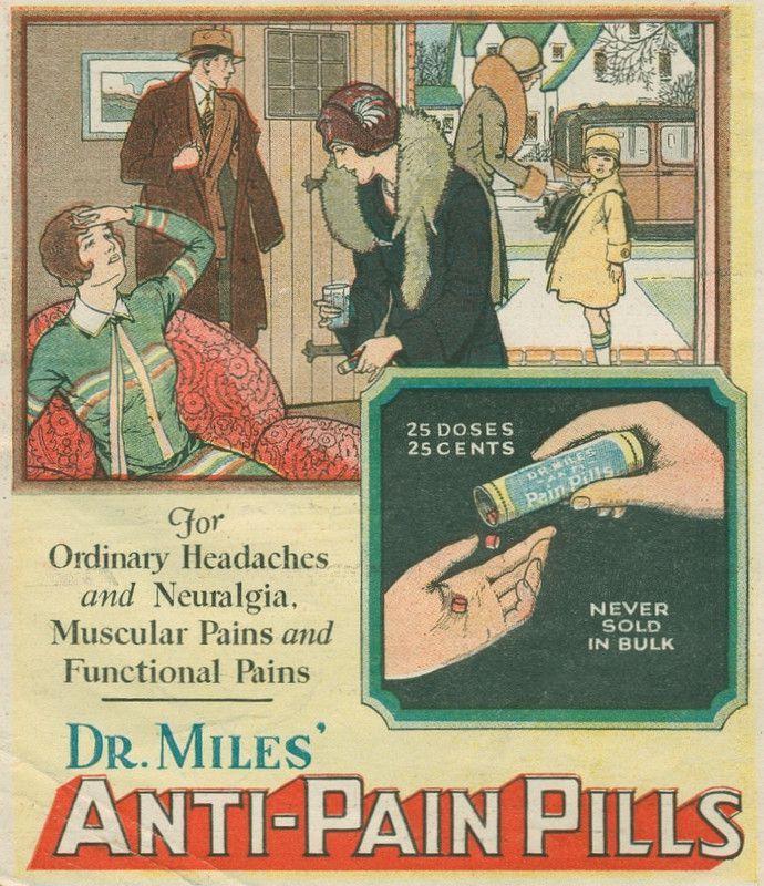 category Vintage photos http://earth66.com/vintage/1930-miles-anti-pain-pills/