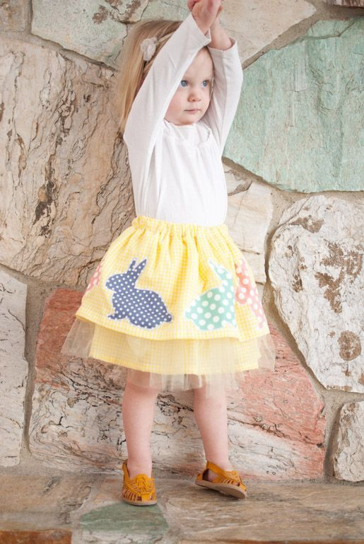 DIY Girl Easter Skirt - tutorial provided, but you need to measure your little one to get the sizing.