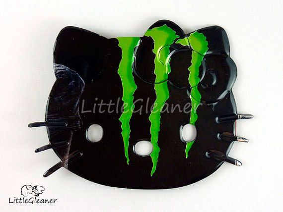 Hello Kitty Magnet  Made from a can of Monster by LittleGleaner