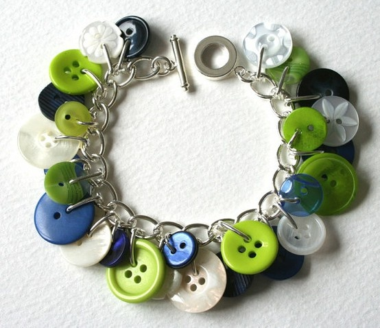 """Buttons! I may have pinned this already but the """"real life"""" end product of these are so cute its worth pinning again :) This is one piece of hand made jewelry my teens actually love!"""