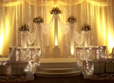 Disney fairytale champagne cinderella wedding for 25th wedding anniversary stage decoration