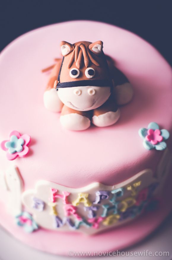Horse Birthday Cake | The Novice Housewife : Chocolate Cake with rolo and kitkat filling and swiss meringue buttercream frosting