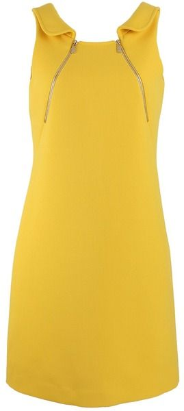 MICHAEL KORS Foldover Collar Zip Tank Dress - Lyst
