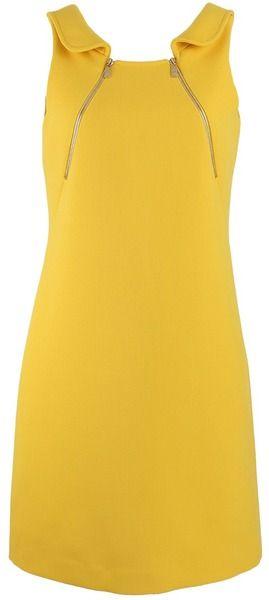 MICHAEL KORS Foldover Collar Zip Tank Dress - Lyst