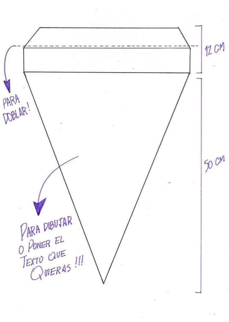 banderines de papel medidas - Buscar con Google