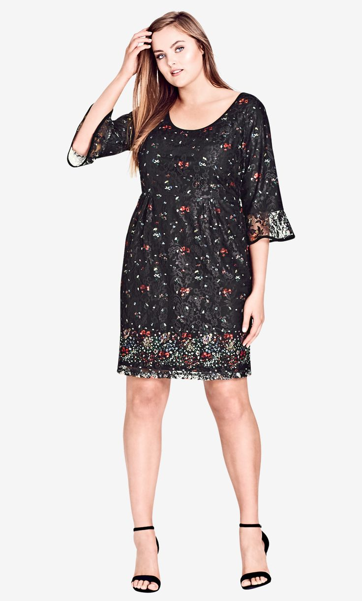 Style By Trend: Paris Date by City Chic - FLORAL FIELDS DRESS#citychic #citychiconline #curves #newarrivals #ootd #plussize #plussizefashion #psootd