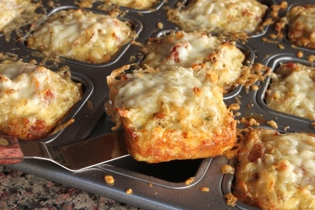 In Erika's Kitchen: Cheesy hash brown muffins with bacon