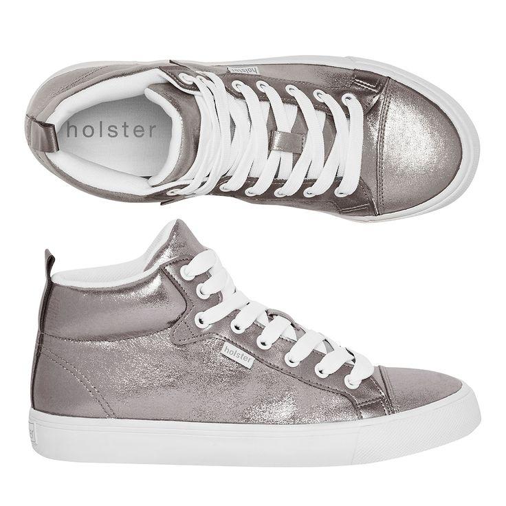Holster: Nova Hi-Top Sneakers (Pewter)