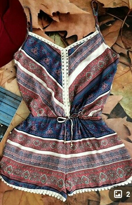 Cute summer romper. Layers for fall?