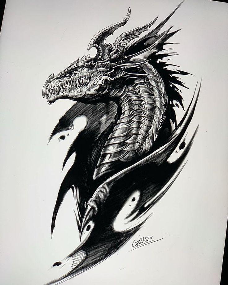 Tribal dragon tattoos Tribal-dragon-tattoos Tiger tattoo ...