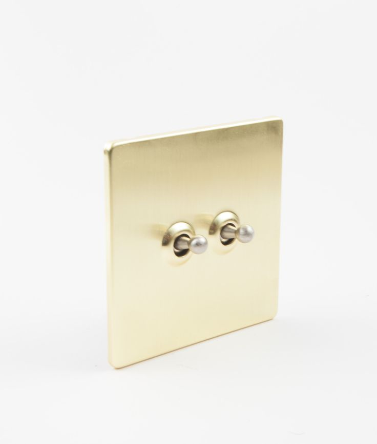 Toggle Light Switch 2 Toggle Gold & Silver Designer Light Switches