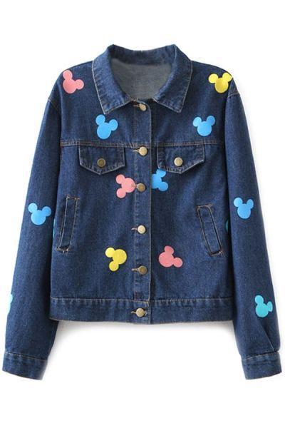 Micky Deco Cropped Denim Jacket