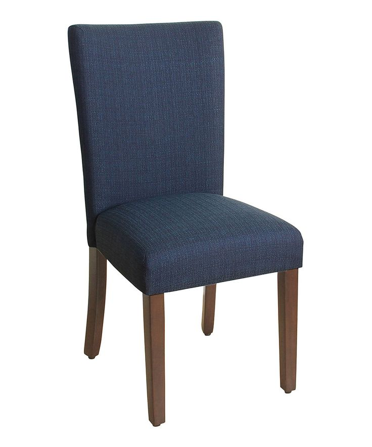 Take a look at this Dark Blue Parson Side Chair today ...