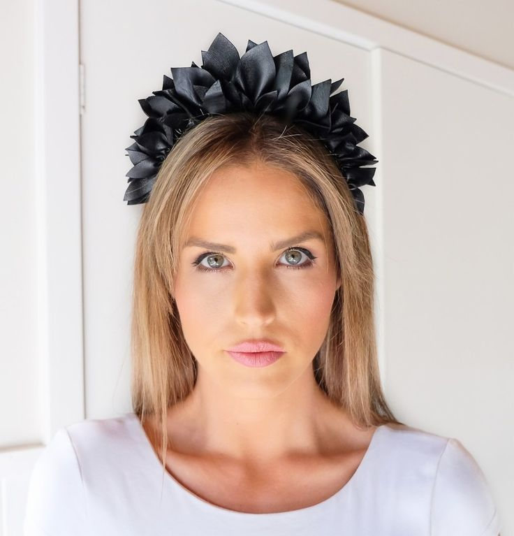 MINT AND MELON LEATHER HEADPIECE for Spring Races 2017