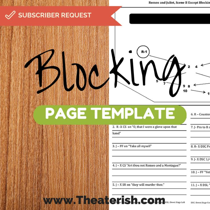 Blocking page template!!! Director's and SMs Unite! #theatertemplates #theaterish