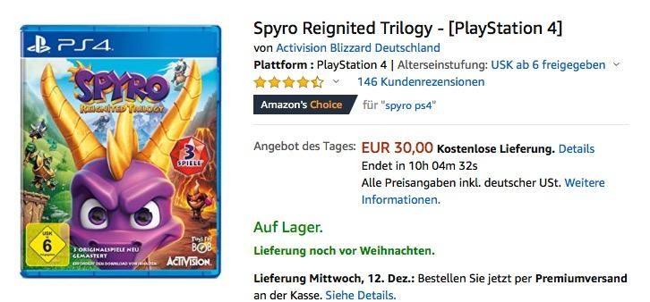 Spyro Reignited Trilogy Playstation 4 Playstation Spielzeug Und Spiele