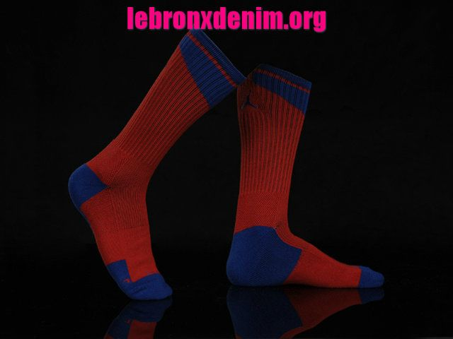 Sport Red Game Roayl Jordan AJ Dri-Fit Crew Sock Mens [Lebron X Denim 262]