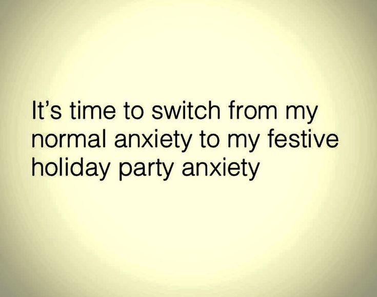 "Wait, what's that ""festive holiday party"" anxiety?"