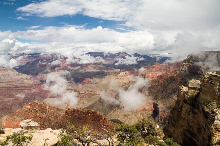 Grand Canyon Fog #grandcanyon http://hikersbay.com
