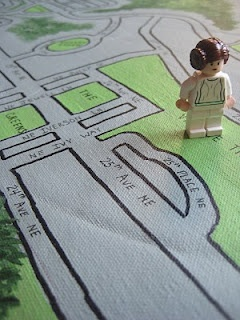 DIY neighborhood play mat - would love for Dan to make something similar