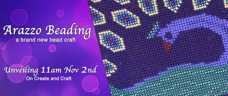 "On Monday November 2nd at 11am, Bead Spider will be unveiling their latest thing! ""Arazzo"", a fusion of several bead crafts in to one! Mark your TV guide to watch our Create and Craft Special Event, this monday at 11am, 4pm, and Tuesday at 11am."
