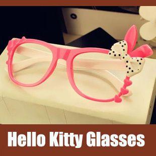 los niños de color rosa blanco cute hello kitty de mujeres marco de gafas de sol gafas de acetato de marco de en de en Aliexpress.com