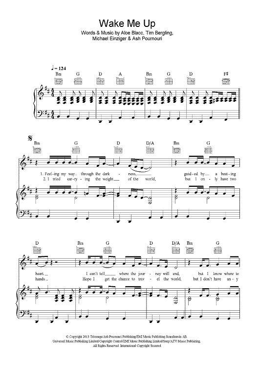 Magnificent Wake Me Up Avicii Chords Guitar Ornament - Basic Guitar ...