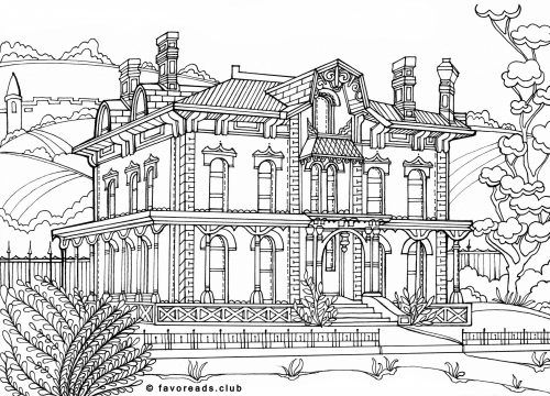 victorian mansion coloring pages - photo#26